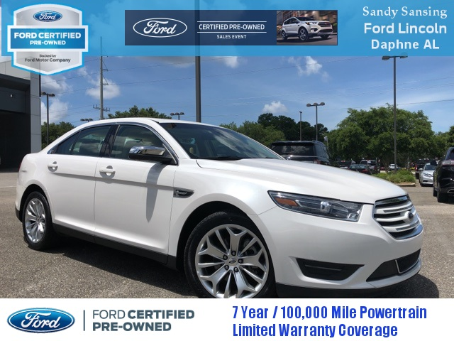 Ford Certified Pre Owned >> Certified Pre Owned 2018 Ford Taurus Limited Fwd 4d Sedan
