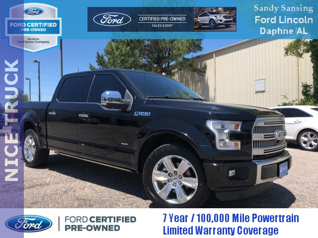 Ford Certified Pre Owned >> Certified Pre Owned 2016 Ford F 150 Platinum 4d Supercrew In