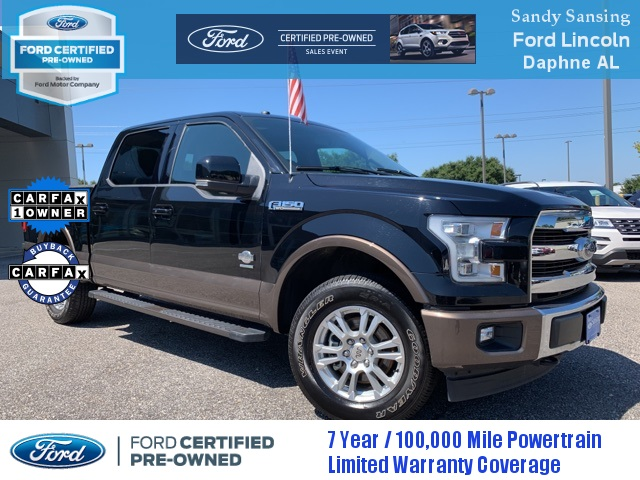 Ford Certified Pre Owned >> Certified Pre Owned 2017 Ford F 150 King Ranch 4wd